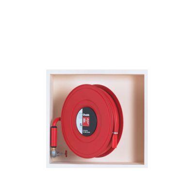 جعبه هوزریل آتش نشانی روکار و توکار (با شیلنگ پلاستیکی)