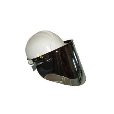 ماسک طلقی ضد تشعشع قابل نصب روی کلاه ایمن جهت کوره های ذوب