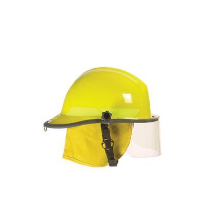 کلاه آتش نشانی با طلق محافظ و شنل ضد حرارت حرفه ای